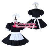 French Sissy Maid Cotton Dress Lockable Uniform Cosplay Costume Tailor-Made[G2278]