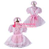 French Sissy Maid Satin Dress Lockable Uniform Cosplay Costume Tailor-Made[G2168]