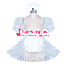 French lockable clear PVC sissy maid dress cosplay unisex Tailor-made[G3895]