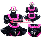 French Sissy Maid Pvc Dress Lockable Uniform Cosplay Costume Tailor-Made[G3796]