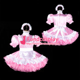 French Sissy Maid Satin Dress Lockable Uniform Cosplay Costume Tailor-Made[G2315]