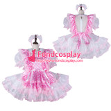 French Sissy Maid Satin Dress Lockable Uniform Cosplay Costume Tailor-Made[G2270]
