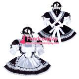 French Sissy Maid Satin Dress Lockable Uniform Cosplay Costume Tailor-Made[G2256]