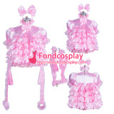 French lockable pink sissy baby maid dress Handcuffs unisex Tailor-made[G3882]