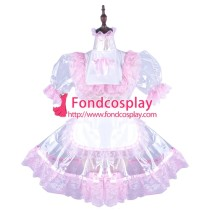 French Clear Pvc Sissy Maid Lockable Dress Tpu Uniform Tailor-Made[G1502]