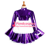 French Lockable Sissy Maid Dress Pvc Maid Uniform Cosplay Costume Tailor-Made[G1046]