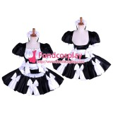 French Lockable Sissy Maid Satin Dress Uniform Cosplay Costume Tailor-Made[G1619]
