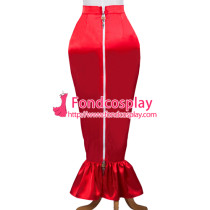 French Sissy Maid Satin Skirt Lockable Uniform Cosplay Costume Tailor-Made[G3719]
