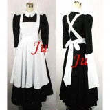 French Sexy Sissy Maid Cotton Lockable Dress Uniform Cosplay Costume Tailor-Made[CK641]