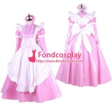 French Lockable-Sissy Maid Pvc Dress Pink Uniform Cosplay Costume Tailor-Made[G1649]
