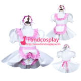 French Sissy Maid Pvc Dress Lockable Uniform Cosplay Costume Tailor-Made[G3731]