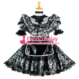 French Lockable Sissy Maid Dress Pvc Maid Uniform Cosplay Costume Tailor-Made[G1048]