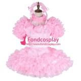 French Lockable Sissy Maid Satin-Organza Dress Uniform Cosplay Costume Tailor-Made[G1993]