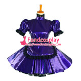 French Lockable Sissy Maid Dress Pvc Maid Uniform Cosplay Costume Tailor-Made[G1047]