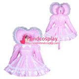 French adult sissy baby Maid PVC Dress Vinyl lockable TV Unisex Tailor-made[G3900]