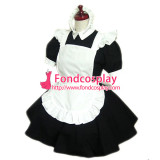 French Sexy Sissy Maid Cotton Lockable Dress Uniform Cosplay Costume Tailor-Made[CK763]