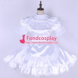 French Lockable Sissy Maid Satin Dress Uniform Cosplay Costume Tailor-Made[G1659]