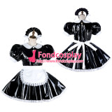 French Sissy Maid Pvc Dress Lockable Uniform Cosplay Costume Tailor-Made[G2125]