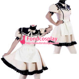 French Sissy Maid Pvc Dress Lockable Uniform Cosplay Costume Tailor-Made[G2187]