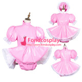 French Sissy Maid Pvc Dress Lockable Uniform Cosplay Costume Tailor-Made[G3780]