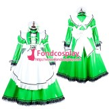 French Lockable Sissy Maid Pvc Vinyl Long Dress Uniform Cosplay Costume Tailor-Made[G1806]