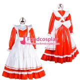 French Lockable Sissy Maid Pvc Vinyl Long Dress Uniform Cosplay Costume Tailor-Made[G1804]