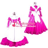 French Lockable Sissy Maid Pvc Vinyl Long Dress Uniform Cosplay Costume Tailor-Made[G1774]