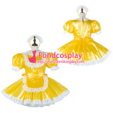 French Sissy Maid Pvc Dress Lockable Uniform Cosplay Costume Tailor-Made[G2282]