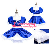 French Sissy Maid Satin Dress Lockable Uniform Cosplay Costume Tailor-Made[G3776]
