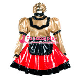 French Sissy Maid Pvc Dress Lockable Uniform Cosplay Costume Tailor-Made[G3737]