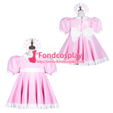 French Sissy Maid Pvc Dress Lockable Uniform Cosplay Costume Tailor-Made[G3763]