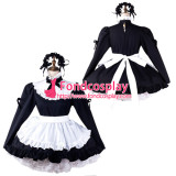French Sissy Maid Satin Dress Lockable Uniform Cosplay Costume Tailor-Made[G2203]