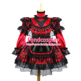 French Sexy Sissy Maid Dress Uniform Lockable Dress Cosplay Costume Custom-Made[G658]