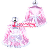 French Sissy Maid Satin Dress Lockable Uniform Cosplay Costume Tailor-Made[G2341]