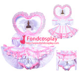 French Sissy Maid Satin Dress Lockable Uniform Cosplay Costume Tailor-Made[G3759]