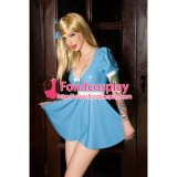 French Sissy Maid Pvc Dress Lockable Uniform Cosplay Costume Tailor-Made[G2427]