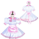 French Lockable Sissy Maid Satin Dress Unisex CD/TV Tailor-Made[G3819]