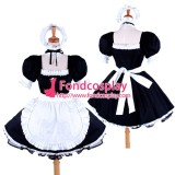 French Lockable Sissy Maid Black-White Cotton Uniform Costume Tailor-Made[G1591]