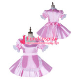 French Sissy Maid Satin Dress Lockable Uniform Cosplay Costume Tailor-Made[G2167]