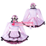 French Sissy Maid Satin Dress Lockable Uniform Cosplay Costume Tailor-Made[G2197]