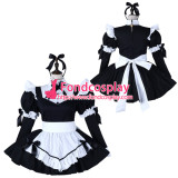 French Sissy Maid Cotton Dress Lockable Uniform Cosplay Costume Tailor-Made[G2275]