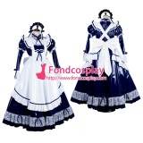 French Lockable Sissy Maid Pvc Vinyl Long Dress Uniform Cosplay Costume Tailor-Made[G1803]