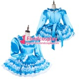 French Lockable Sissy Maid Satin-Organza Dress Uniform Cosplay Costume Tailor-Made[G2016]