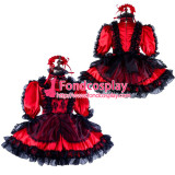 French Sissy Maid Satin Dress Lockable Uniform Cosplay Costume Tailor-Made[G2131]
