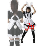 French Sexy Sissy Maid Cotton Dress Uniform Cosplay Costume Tailor-Made[CK719]