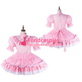 French Sissy Maid Satin Dress Lockable Uniform Cosplay Costume Tailor-Made[G2190]