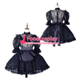 French Sissy Maid Satin Dress Lockable Uniform Cosplay Costume Tailor-Made[G2163]