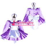 French Sissy Maid Satin Dress Lockable Uniform Cosplay Costume Tailor-Made[G2036]