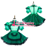 French Sissy Maid Green Organza Dress Lockable Uniform Cosplay Costume Tailor-Made[G3726]