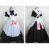 French Sexy Sissy Maid Cotton Long Dress Uniform Cosplay Costume Tailor-Made[CK738]